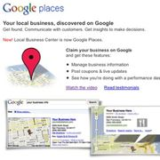 Insert your business on Google Places